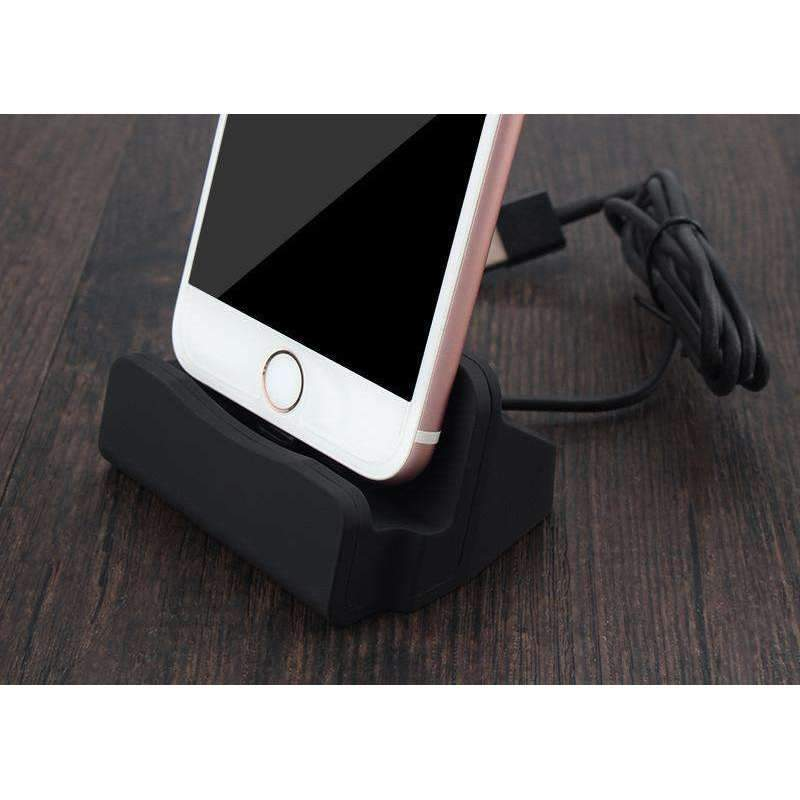 Dock Station Charger For Apple iPhone-Black-Dock Station Charger For Apple iPhone-1-Shopeholic