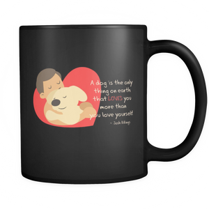 Shopeholic:Dog Lovers Black Mug 11oz