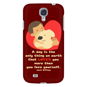 Dog Lovers Phone Cases - Dark Brown-Galaxy S4-AJ01023P-Shopeholic