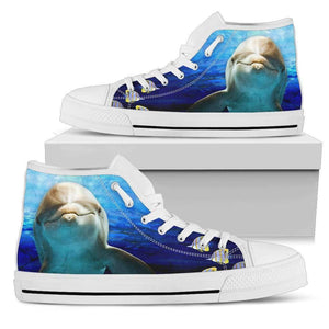 Dolphin 2 - Men's High Top Canvas Shoes-Mens High Top - White - Dolphin 1-PP.2546512-Shopeholic