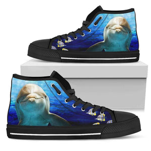 Dolphin 2 - Men's High Top Canvas Shoes-Mens High Top - Black - Dolphin 2-PP.2546521-Shopeholic