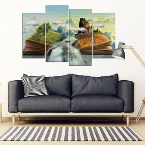 Shopeholic:Fantasy Book Island - Framed Canvas