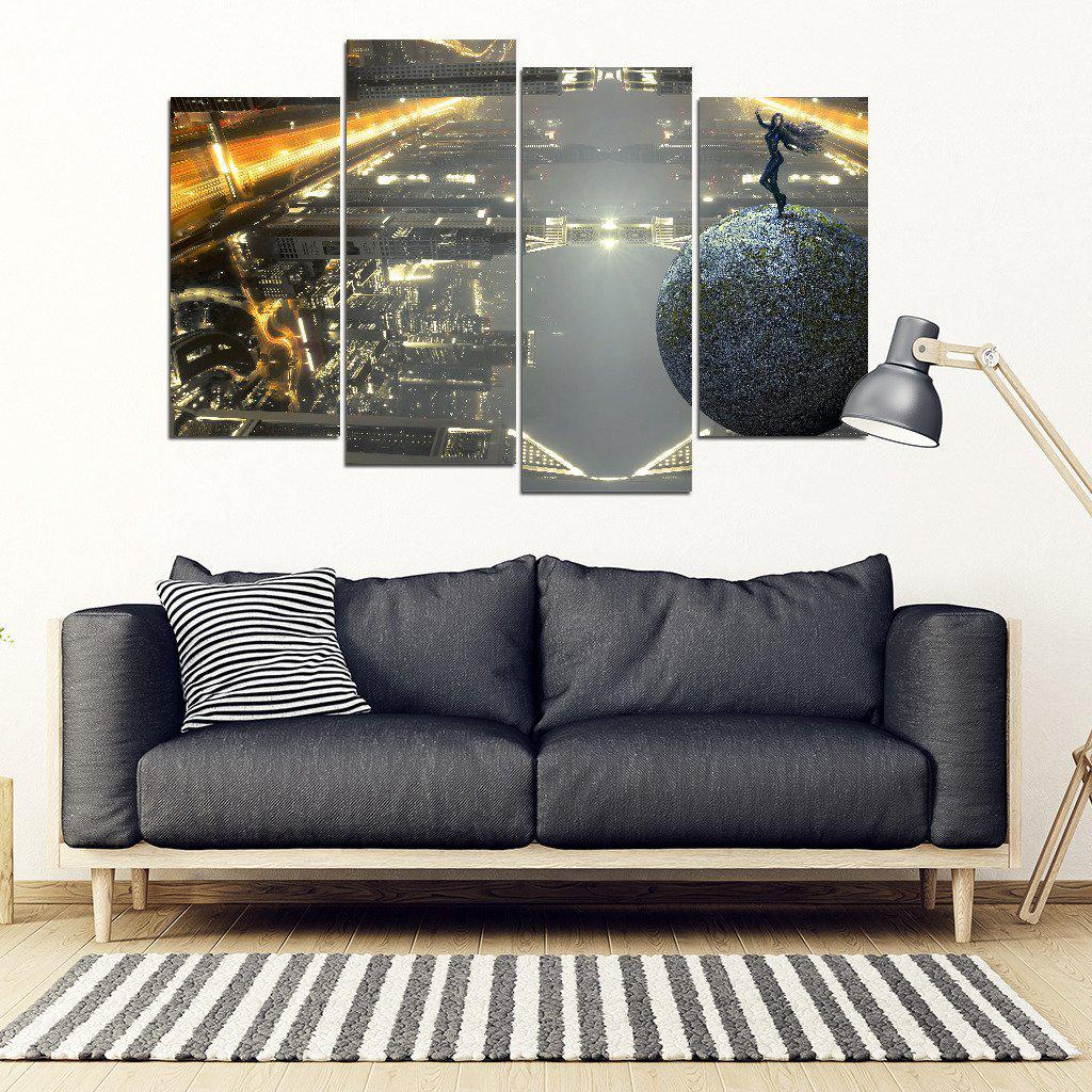 Fantasy Skyline - Framed Canvas-Shopeholic