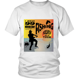 Fishing Solves Problems Apparels-District Unisex Shirt-DT6000-Shopeholic