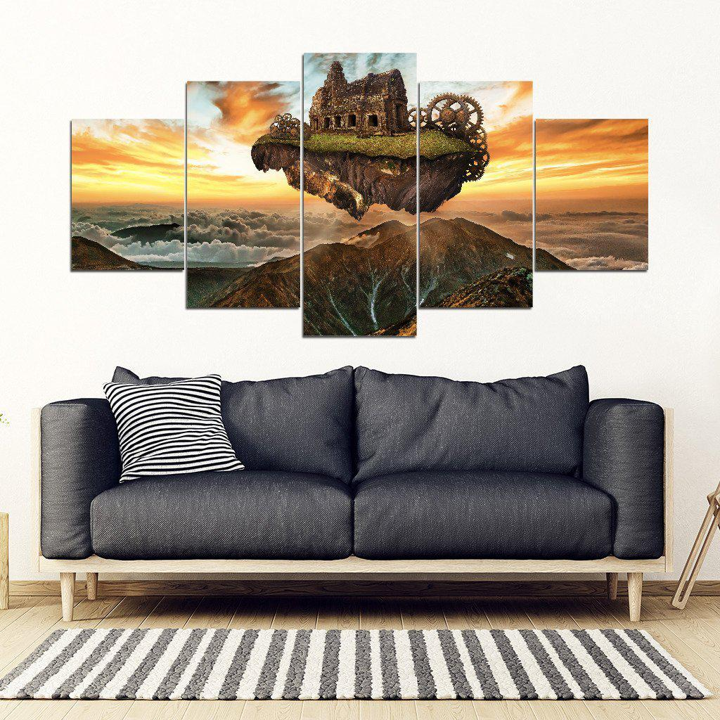Shopeholic:Floating Fantasy Island -  5pc/4pc/3pc Framed Canvas