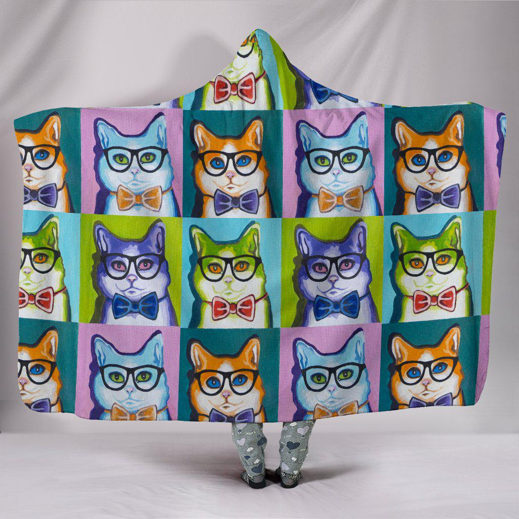 Shopeholic:Funky Cats Hooded Blanket