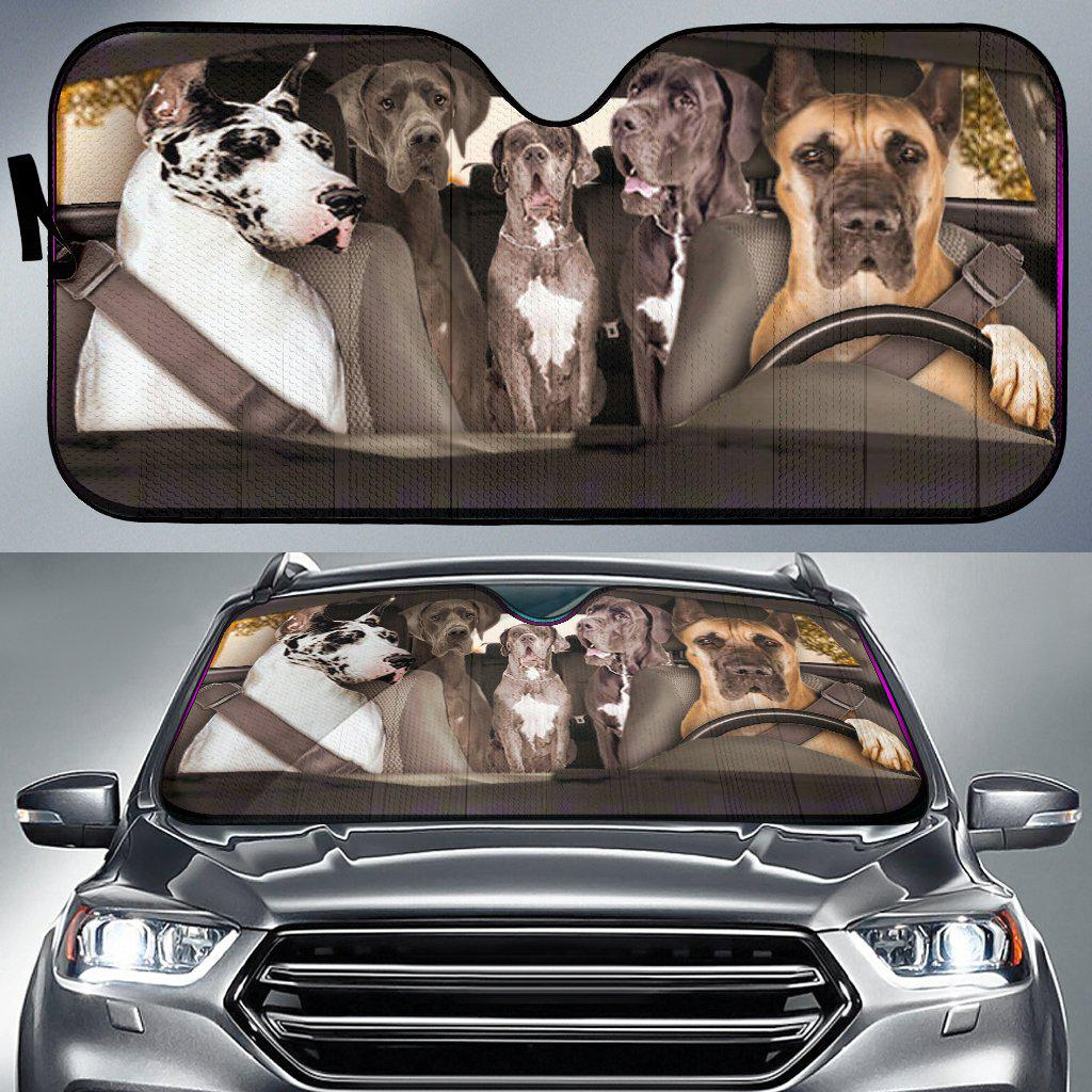 Shopeholic:Great Dane Dogs 2 - Auto Sun Shade