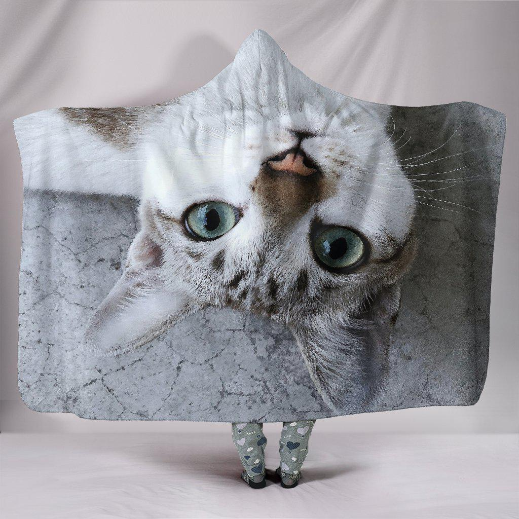 Shopeholic:Upside Down Cat Hooded Blanket