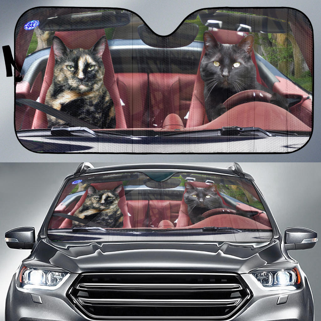 Shopeholic:Custom Design Auto Sun Shade - Cats - Christine