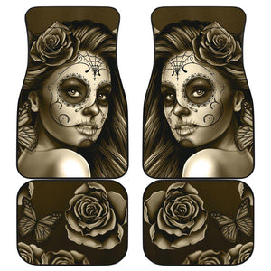 Shopeholic:Calavera Girl - Front and Back Car Floor Mats