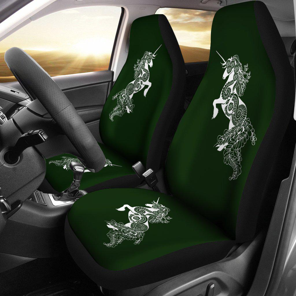 Shopeholic:Mandala Unicorn - Olive - Car Seat Covers