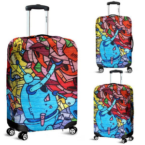 Robot Junk Art Luggage Cover