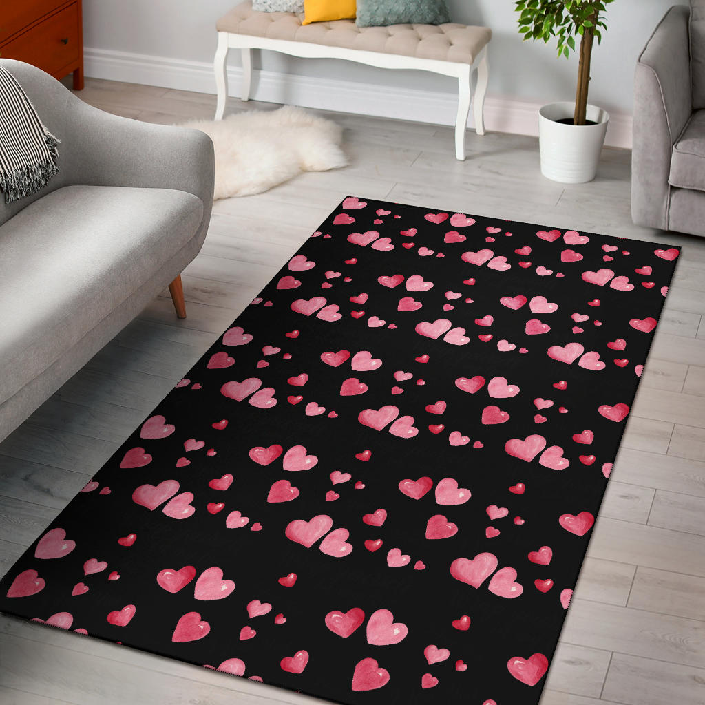 Shopeholic:Love Heart Area Rug