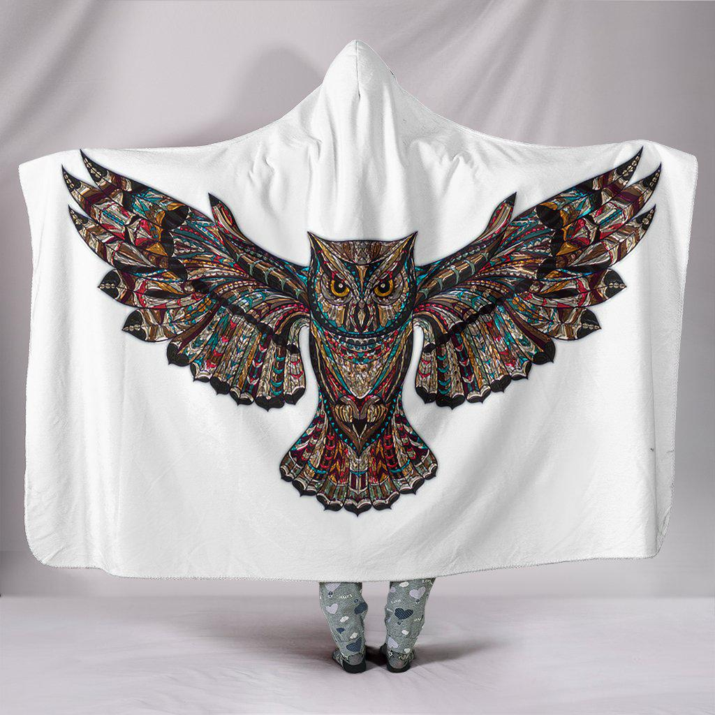 Shopeholic:Stunning Owl Bird Hooded Blanket