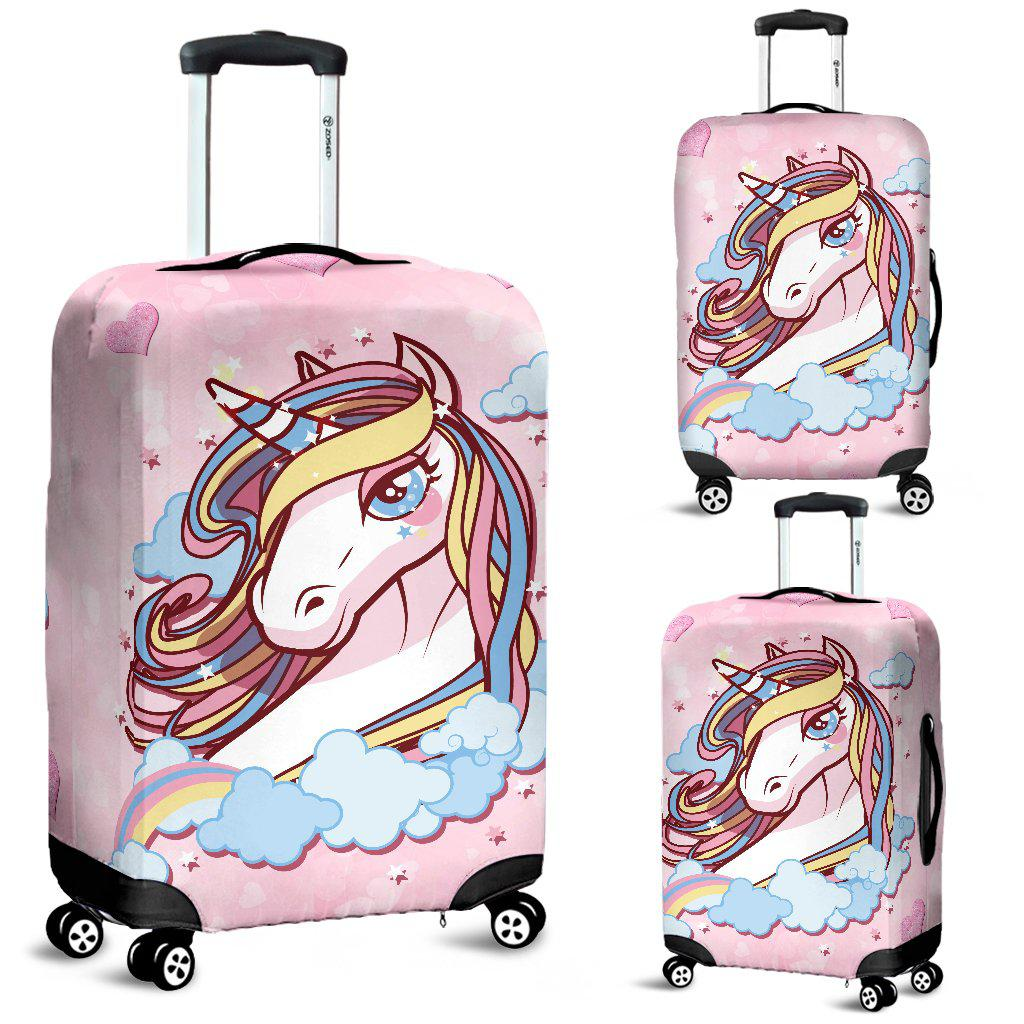 Shopeholic:Unicorn Dreaming Protective Luggage Bag Cover