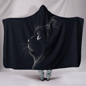 Shopeholic:Black Cat 02 Hooded Blanket