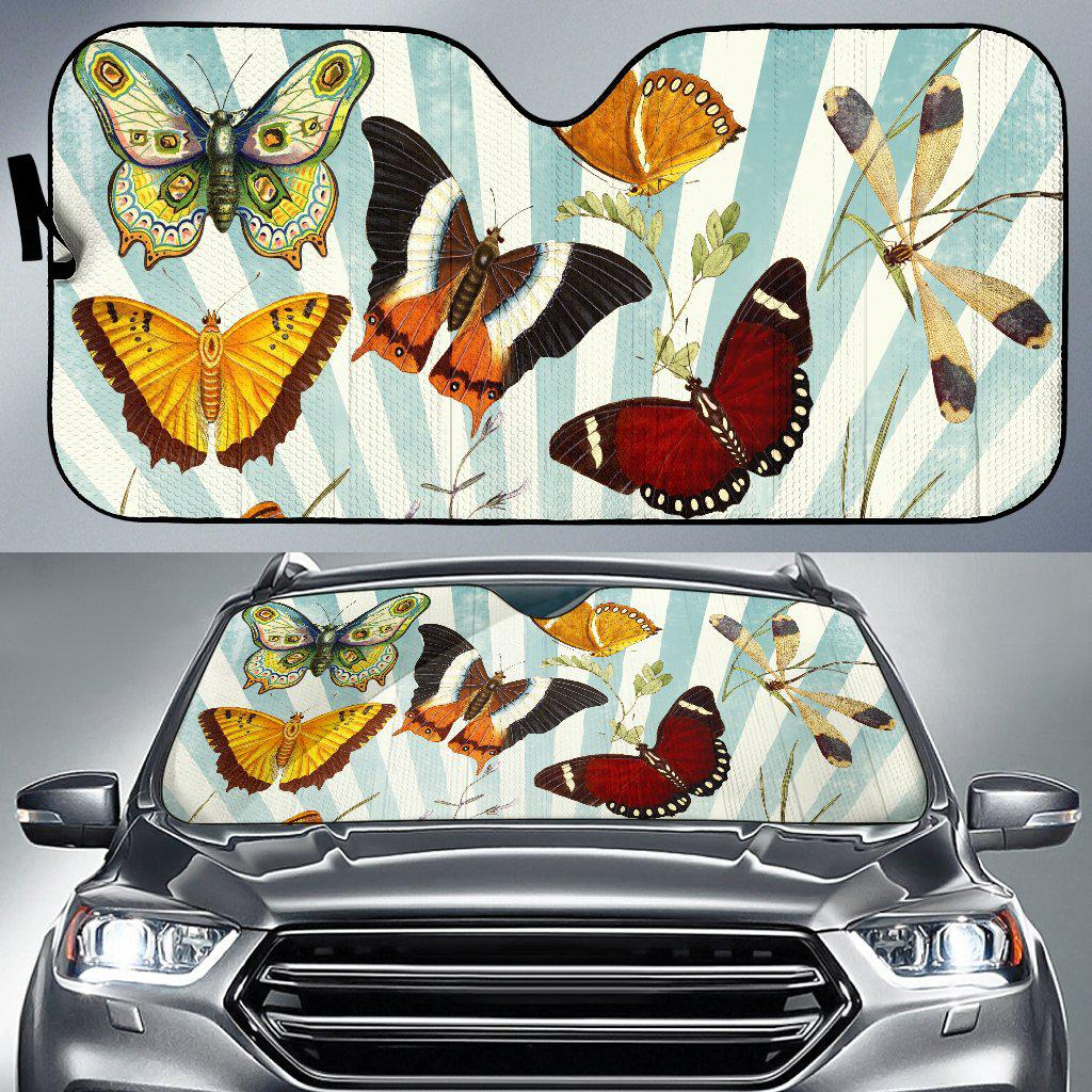 Shopeholic:Butterfly Collage Auto Sun Shade