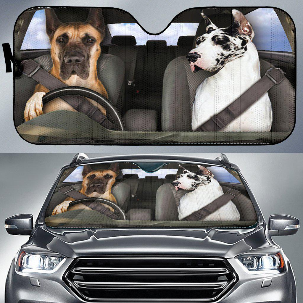 Shopeholic:Great Dane Dogs 1 RHD - Auto Sun Shade