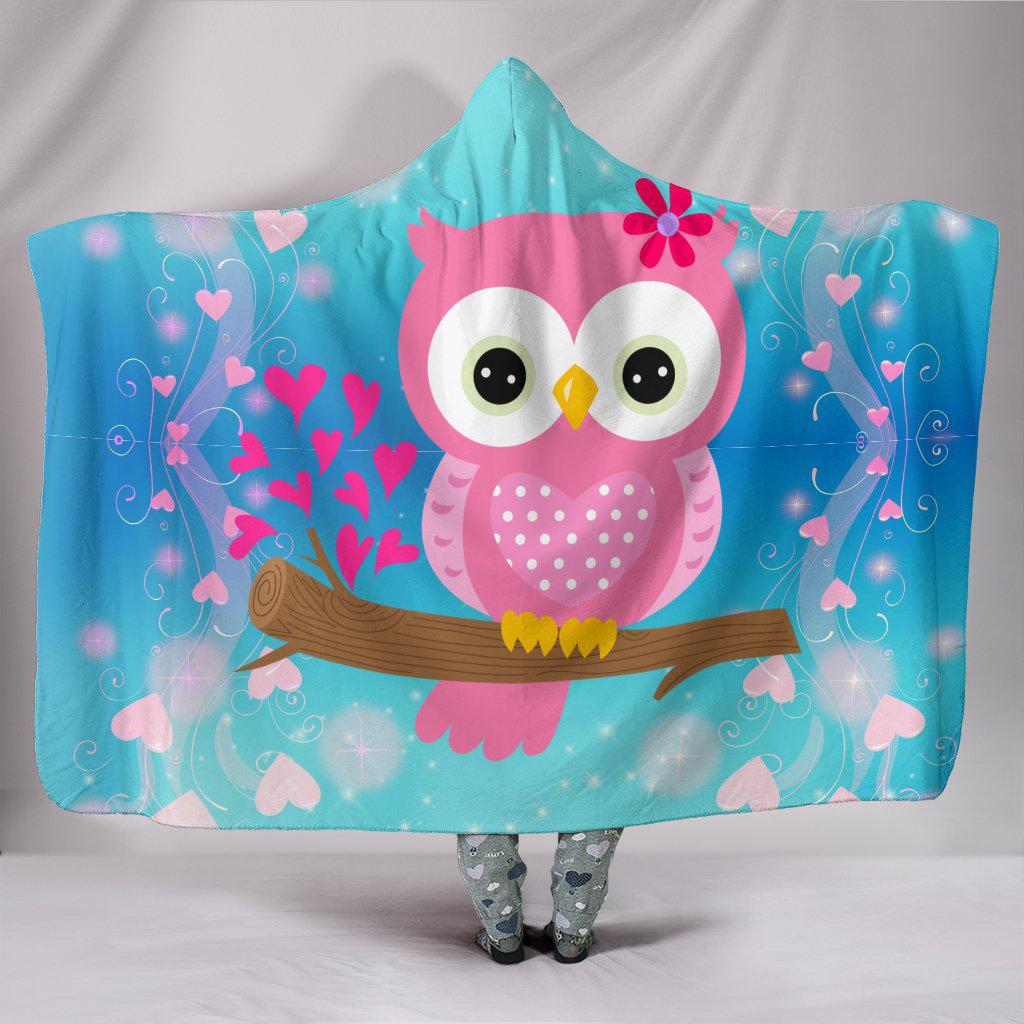 Shopeholic:Hoot Hoot Owl Lovers Plush Hooded Blanket