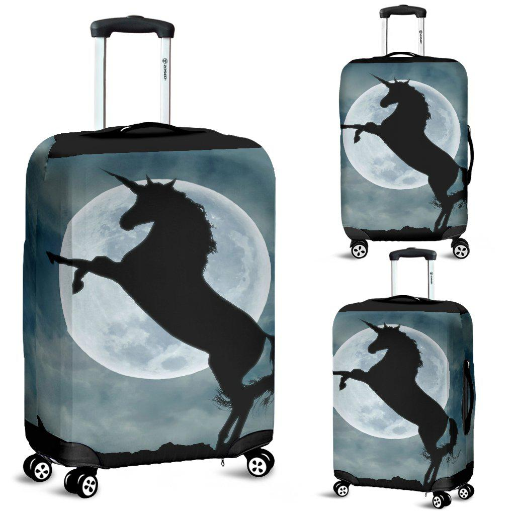 Shopeholic:Moonlight Unicorn Protective Luggage Cover