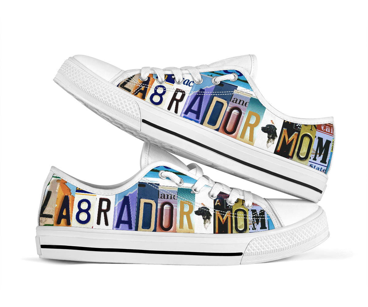 Shopeholic:Labrador Mom Low Top Shoes