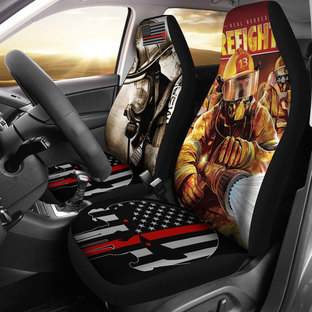 Shopeholic:Firefighter Car Seat Covers 2