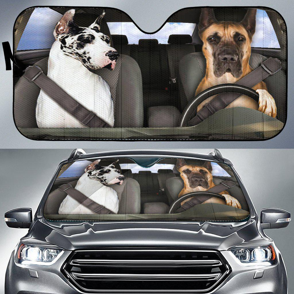 Shopeholic:Great Dane Dogs 1 - Auto Sun Shade