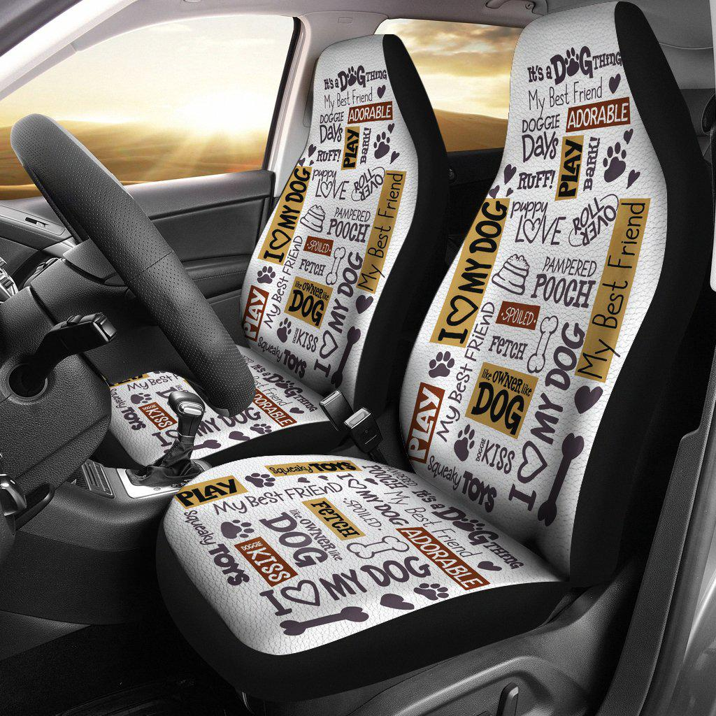 Shopeholic:Dog Quotes Car Seat Covers