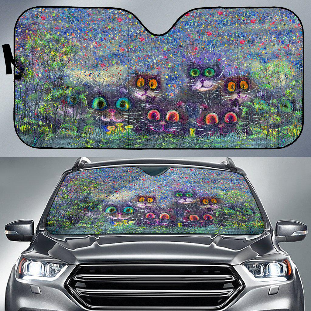 Shopeholic:Cats Auto Sun Shade