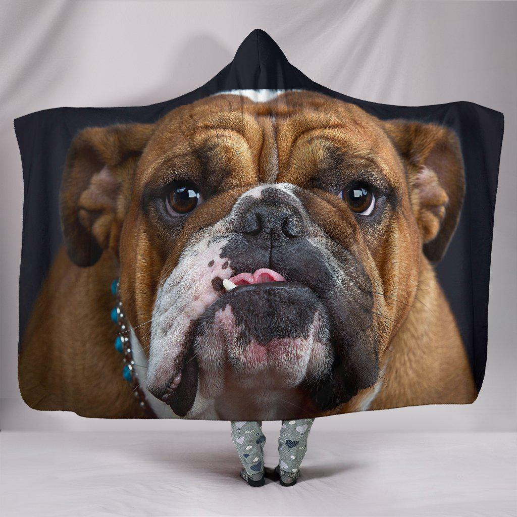Shopeholic:Bulldog Lovers Hooded Blanket