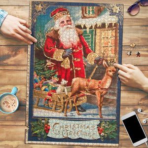 Christmas Greetings Vintage Jigsaw Puzzle