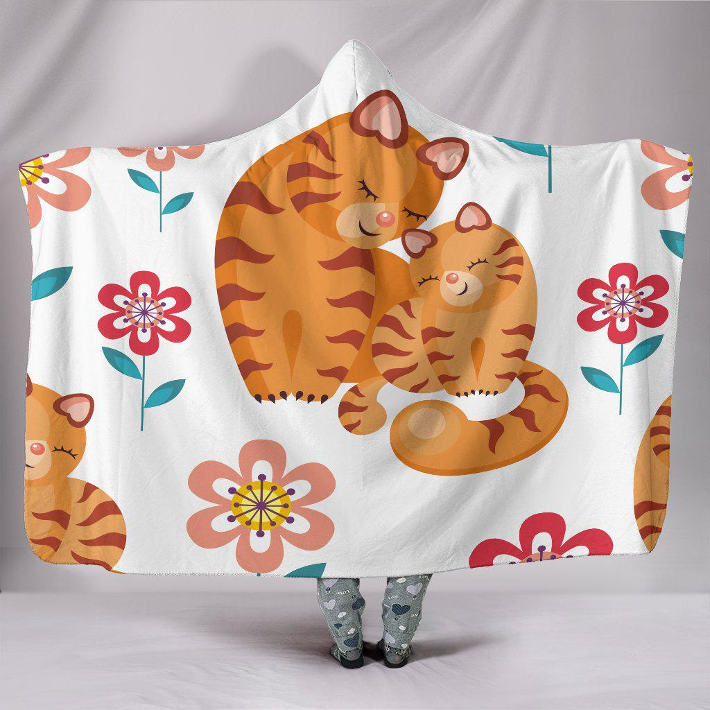 Shopeholic:Sweet Cat and Kitten Hooded Blanket