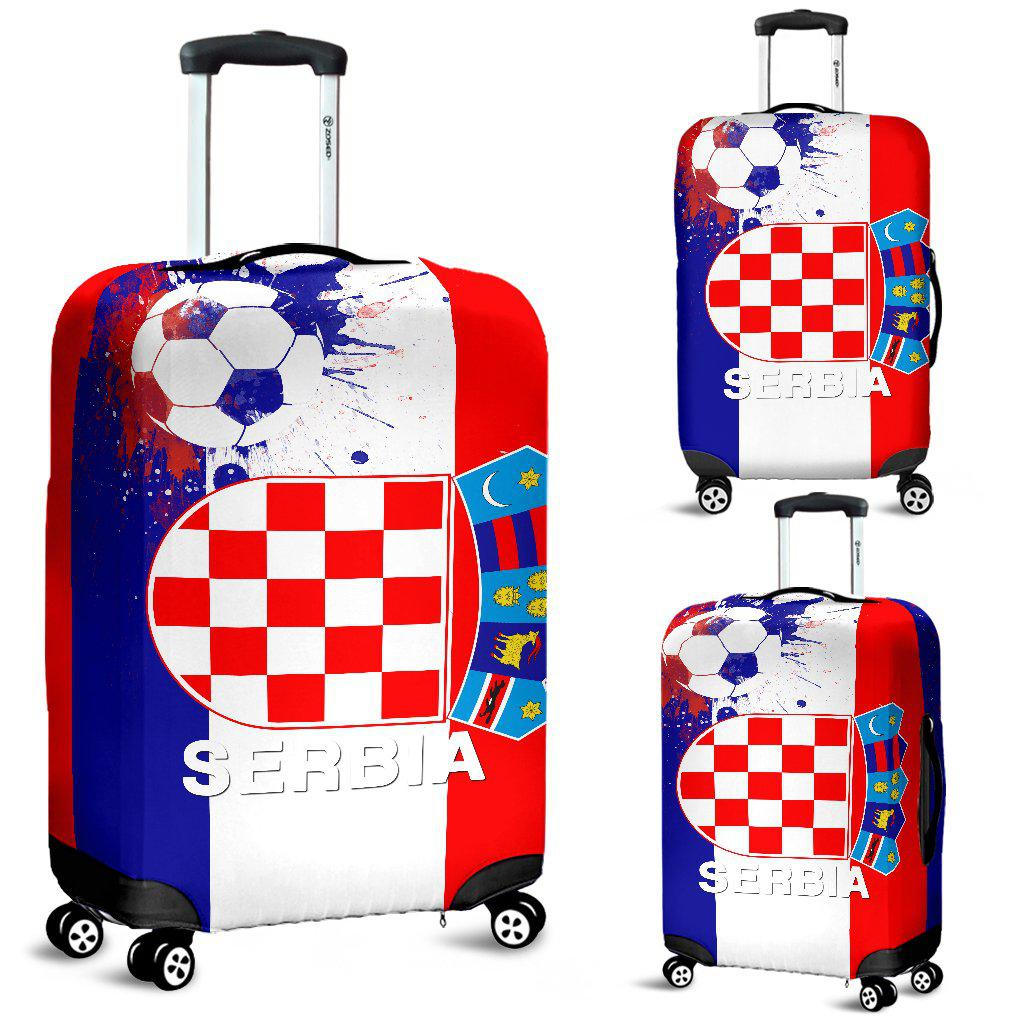 Shopeholic:Luggage Covers Serbia Soccer