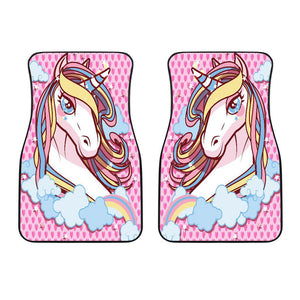 Shopeholic:Unicorn Lovers Front Car Mats (Set Of 2)