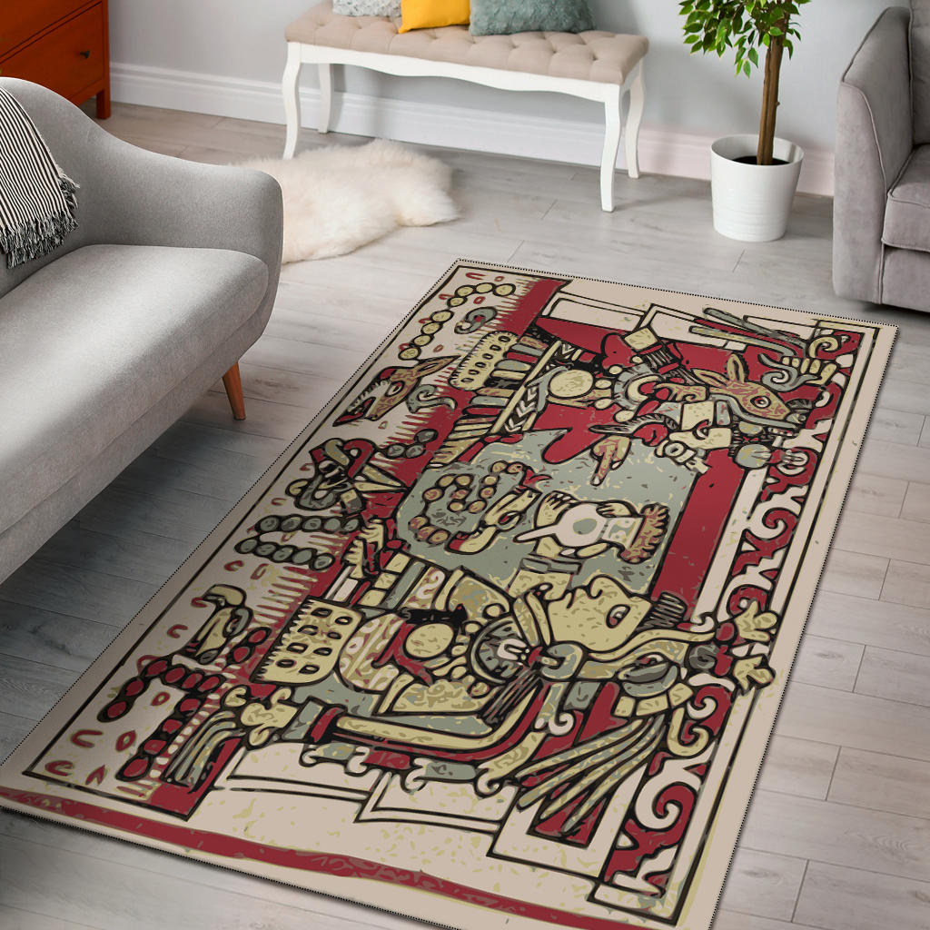 Shopeholic:Aztec Village Area Rug