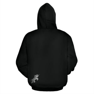 Mandala Unicorn - Black - All Over Hoodie