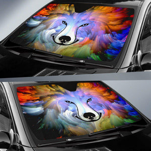 Abstract Dog Auto Sun Shade