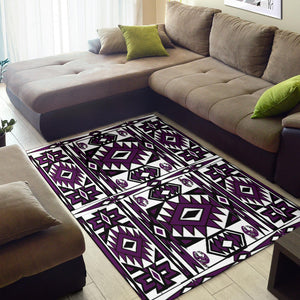 Shopeholic:Native Stylish Area Rug Great for any Room Black Bottom  (purple)
