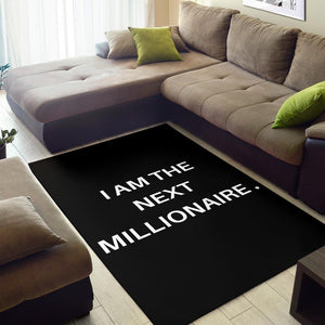 Shopeholic:I AM THE NEXT MILLIONAIRE AREA RUG