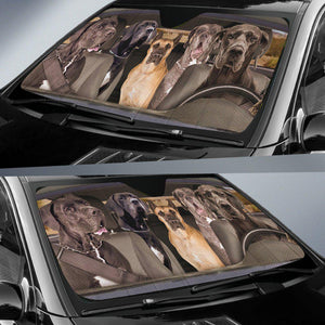 Shopeholic:Great Dane Dogs 5 - Auto Sun Shade