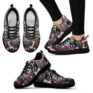 Shopeholic:French Bulldog & Wine Women's Sneakers
