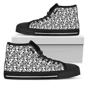 Shopeholic:Cute Skulls Men's High Top Canvas Shoes