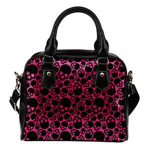 Shopeholic:Bloody Skulls Shoulder Bag