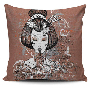 Shopeholic:Geisha 1 - Pillow Covers