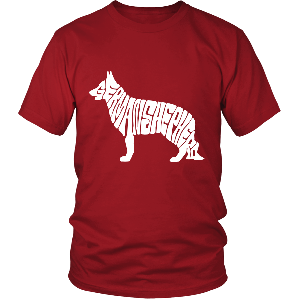 Shopeholic:German Shepherd (Shape with Letters) Apparels