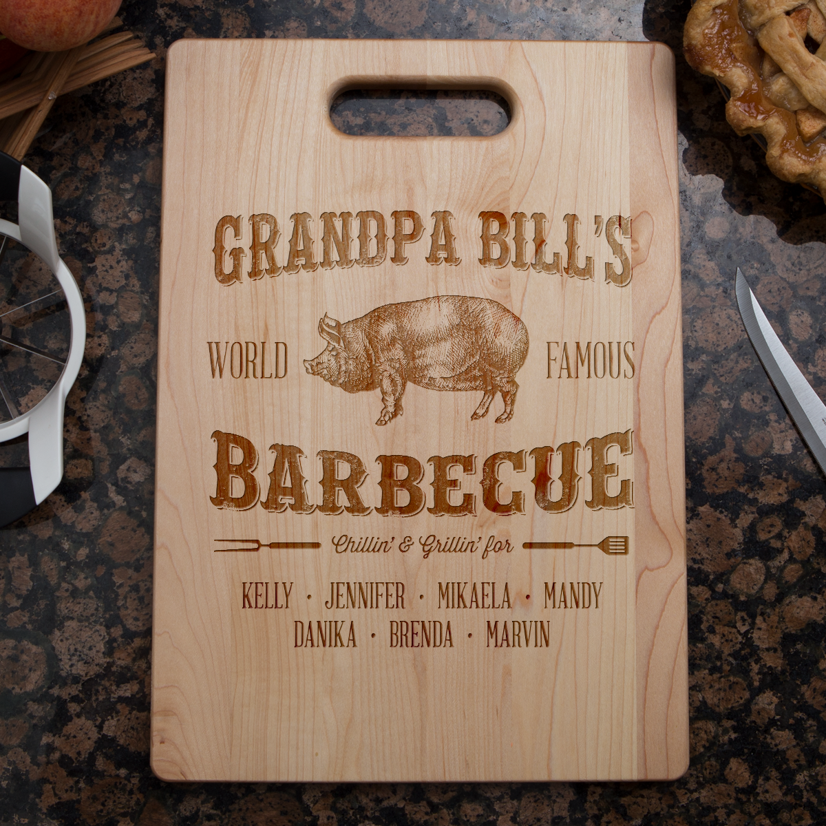Grandpa's Barbecue Cutting Board-Shopeholic
