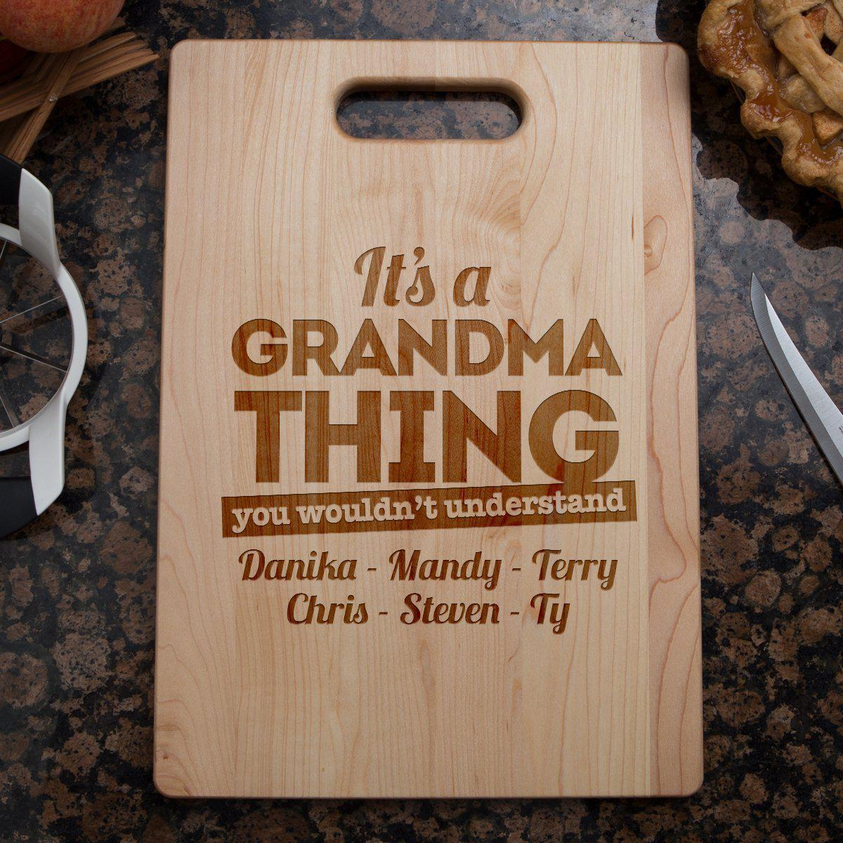 Shopeholic:It's A Grandma Thing Cutting Board
