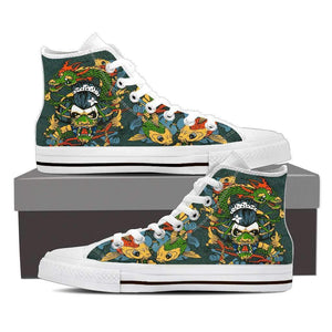 Shopeholic:Japanese Theme Men's High Top Canvas Shoes