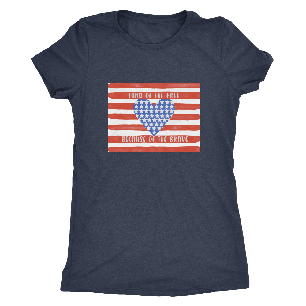 Land Of The Free Apparels-Next Level Ladies Triblend-6710-Shopeholic