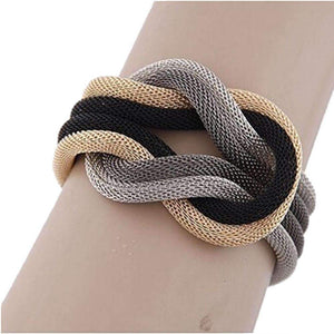 Layered Knot Bracelet-Gray-GYY60924962A-Shopeholic